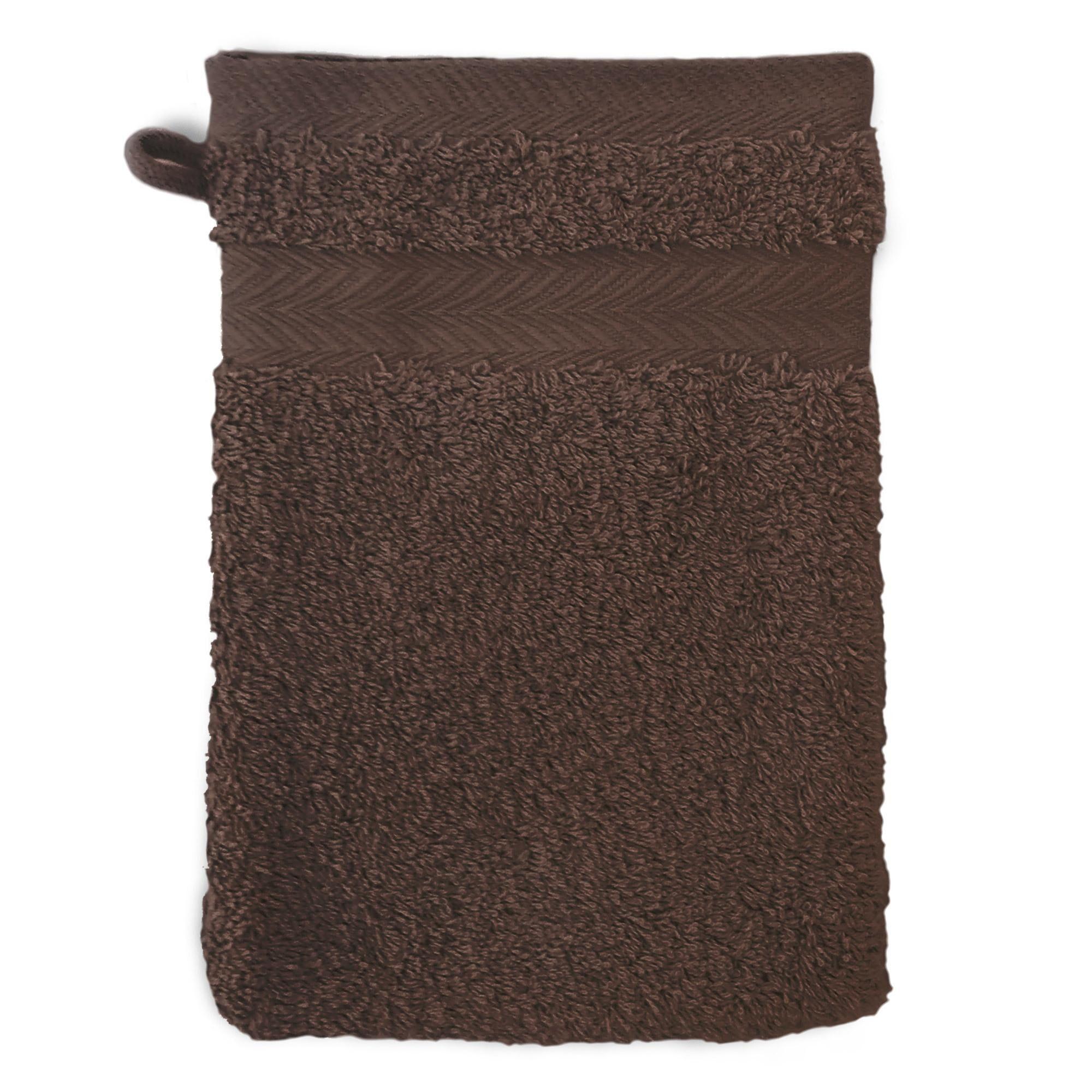 Linnea Gant de toilette 16x21 cm ROYAL CRESENT Chocolat 650 g/m2