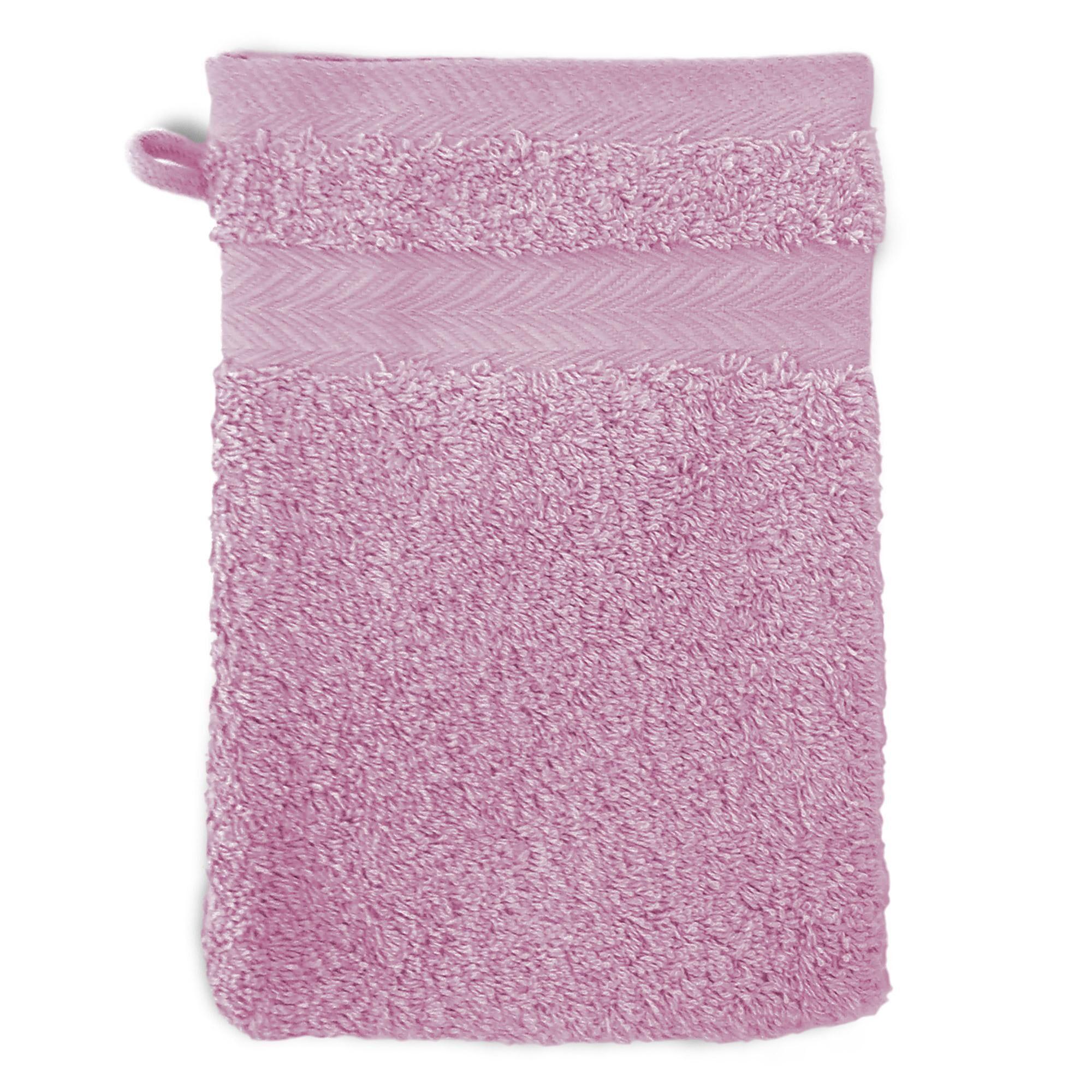 Linnea Gant de toilette 16x21 cm ROYAL CRESENT Rose Lavande 650 g/m2