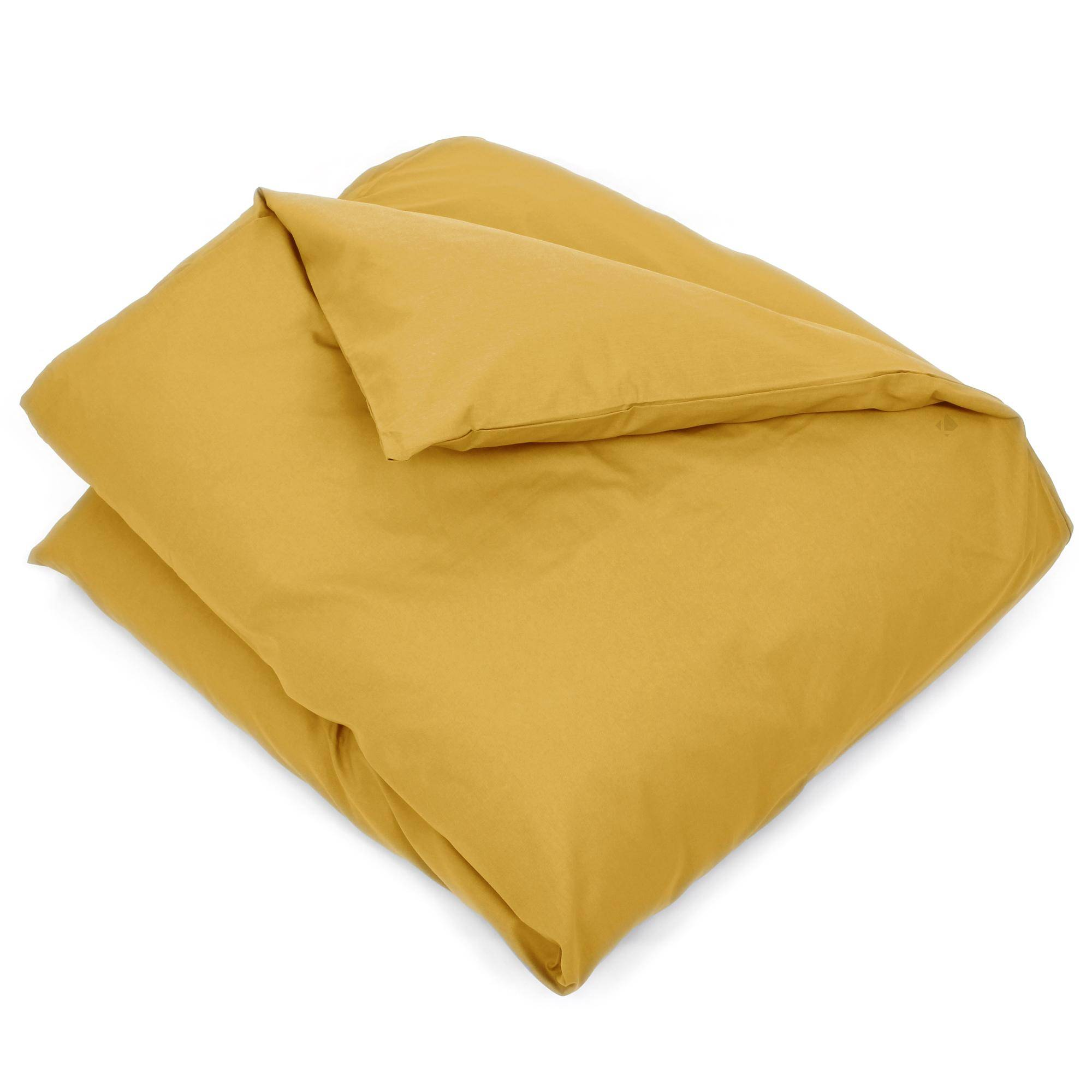 Linnea Housse de couette uni 140x200 cm 100% coton ALTO jaune bourdon