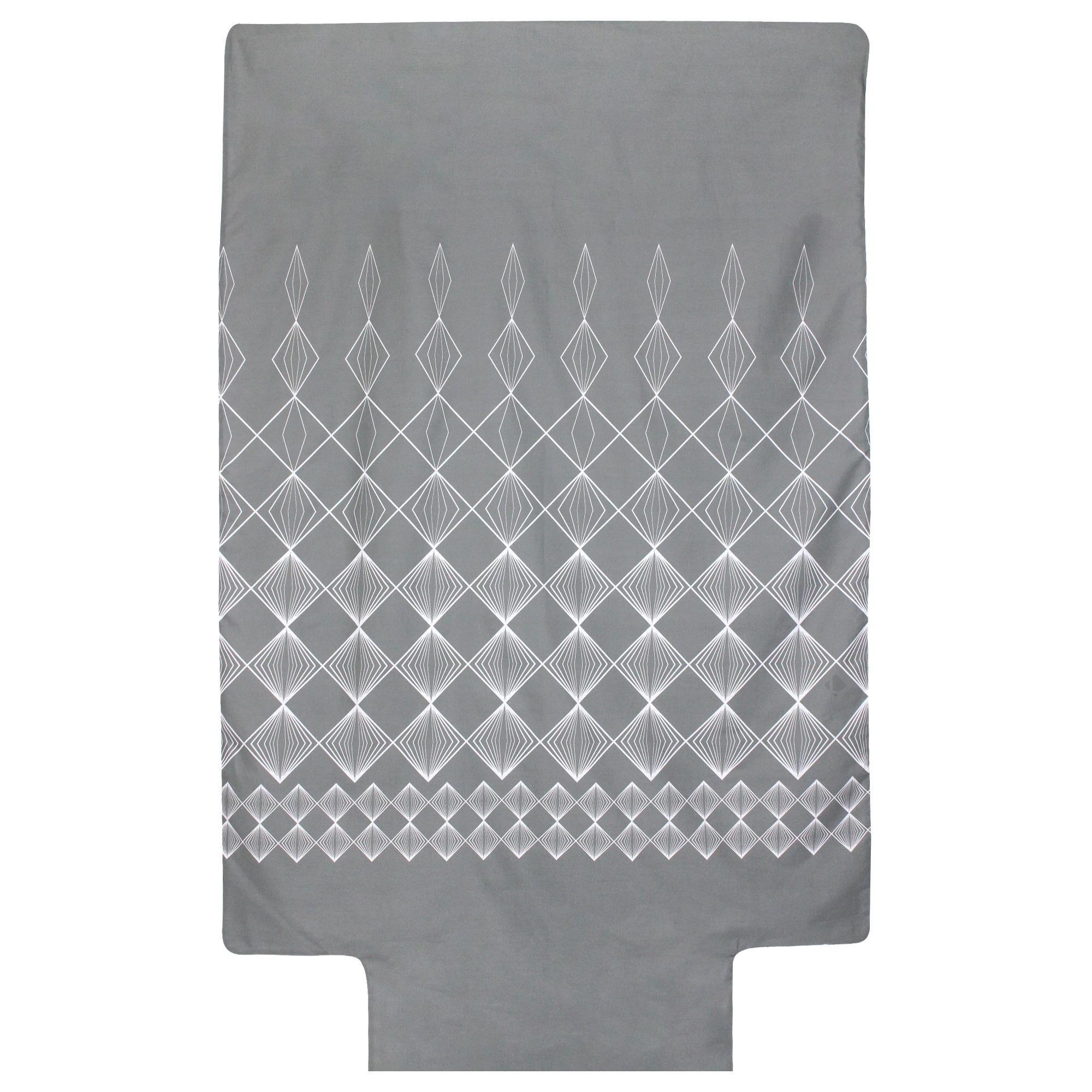 Linnea Housse de couette 140x200 cm 100% coton FOREVER GRIS gris foncé