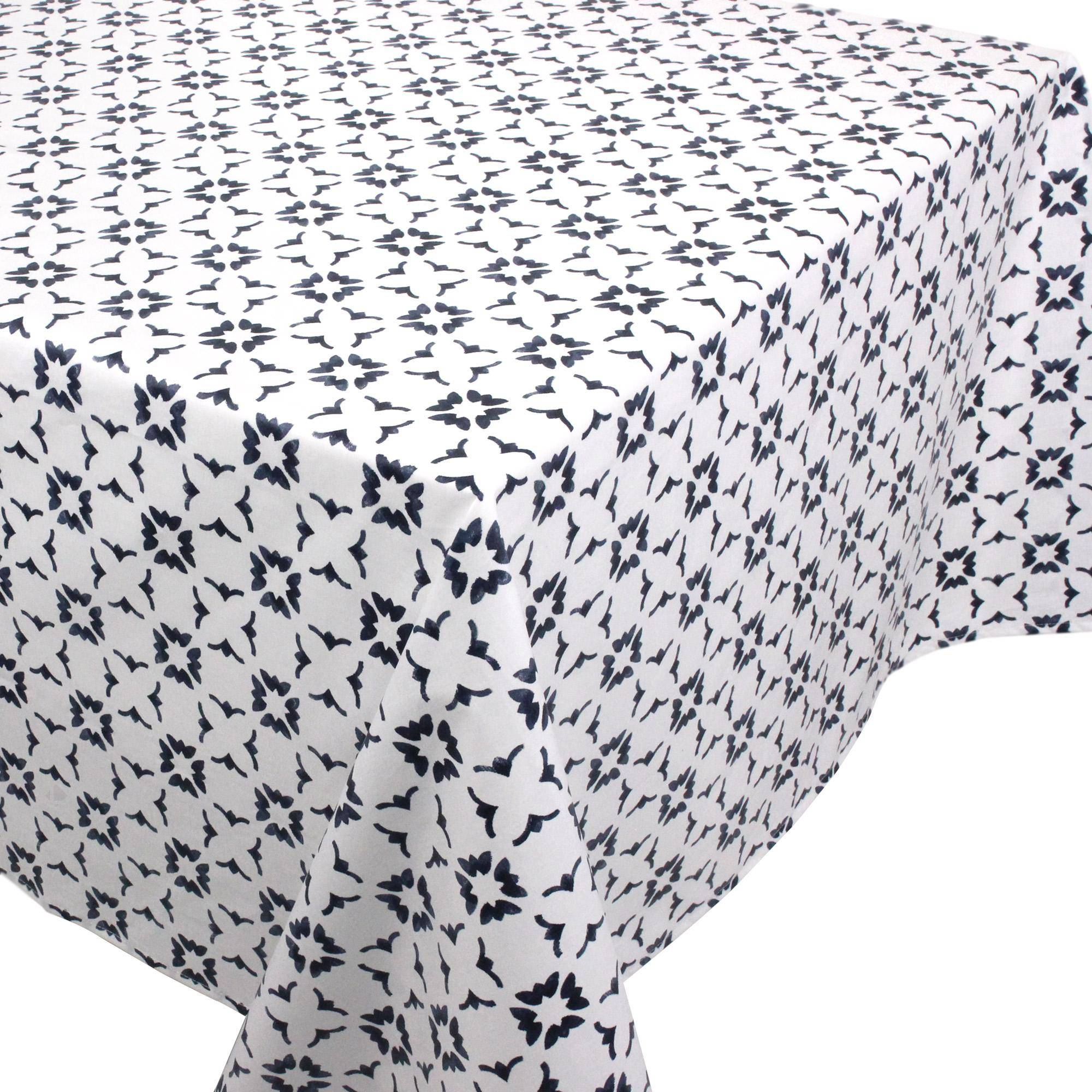 Linnea Nappe carrée 170x170 cm 100% coton enduction acrylique BELEM blanc