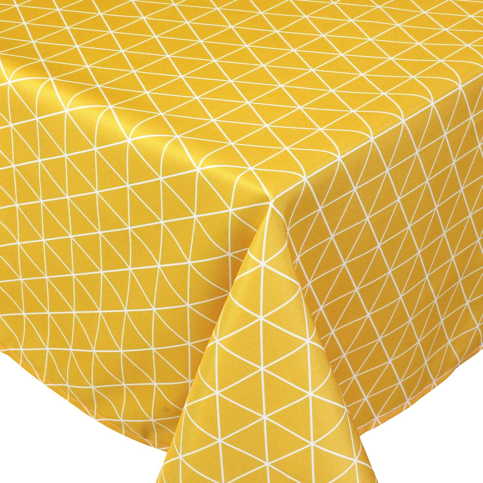 Linnea Nappe rectangle 150x300 cm imprimée 100% polyester PACO géométrique jaune Maïs