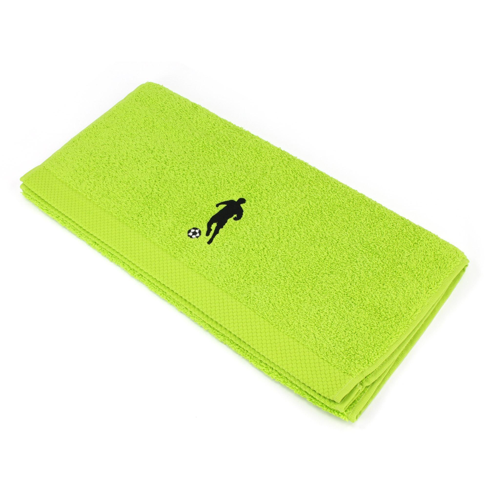 Linnea Serviette de toilette 50x100 cm 100% coton 550 g/m2 PURE FOOTBALL Vert Pistache