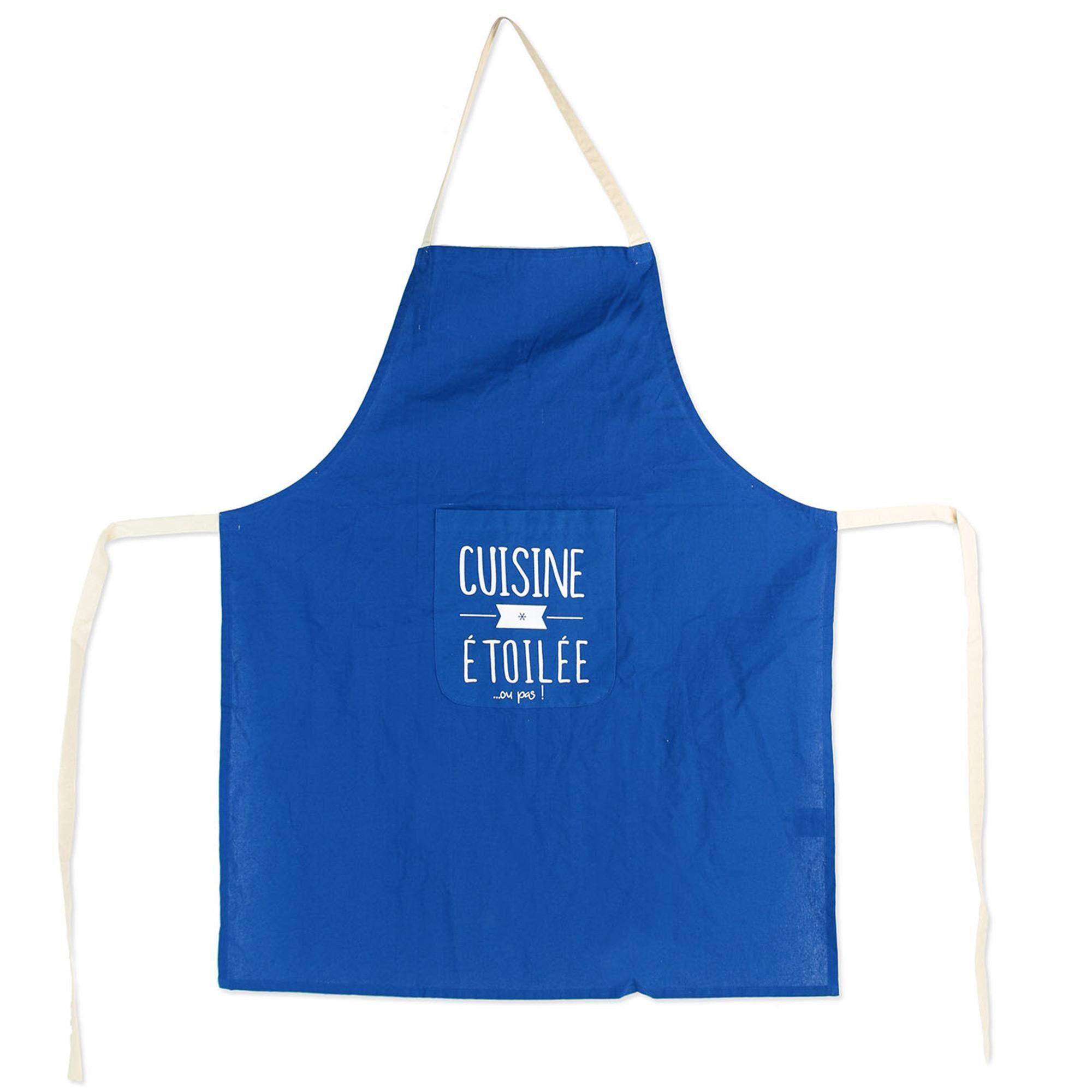 Linnea Tablier de cuisine MOTS bleu