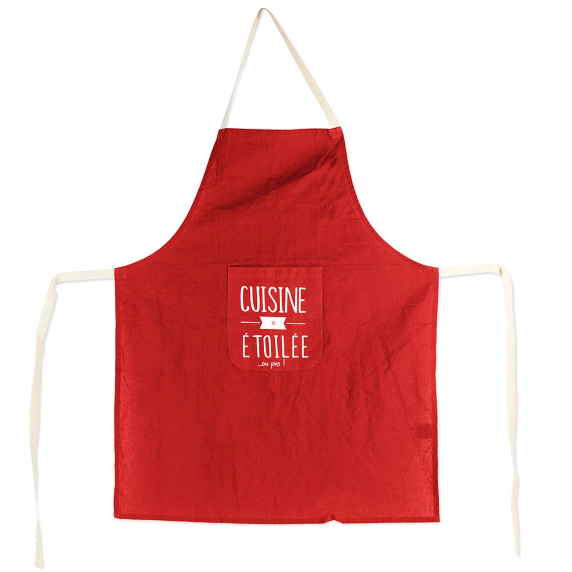 Linnea Tablier de cuisine MOTS Rouge