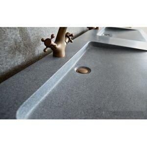LivingRoc Double vasque en pierre 160x50 granit gris véritable FOLEGE - Publicité