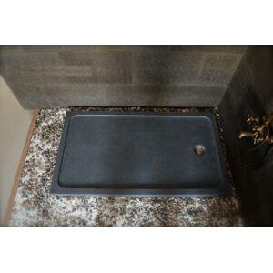 LivingRoc Receveur de douche 120x90 en pierre taillé dans le granit RUBIX - Publicité