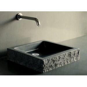 LivingRoc Vasque en pierre noire granit ou basalt véritable 40-60cm BORNEO - Publicité