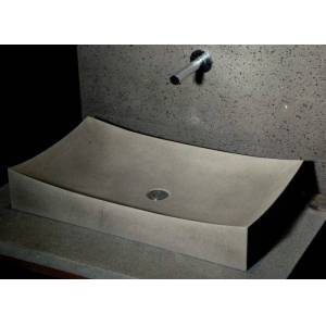 LivingRoc 70x40 Grande vasque salle de bain pierre Basalte gris - TOJI - Publicité