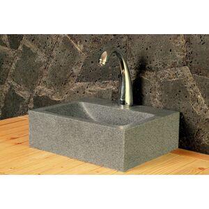 LivingRoc Lave mains en pierre naturelle 32x27 granit véritable BALTIC - Publicité