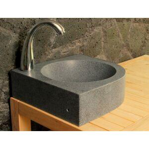 LivingRoc Lave mains en pierre d'angle 34x34cm granit véritable SAMOA - Publicité