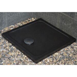 LivingRoc Bac à douche taillé dans le granit noir 80x80 CORAIL SHADOW - Publicité