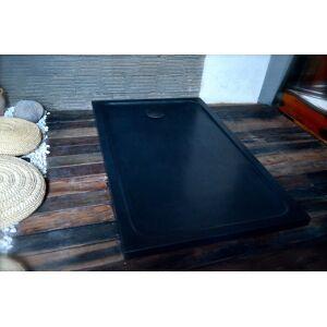 LivingRoc Receveur de douche en pierre 180x90 granit noir DALAOS SHADOW - Publicité