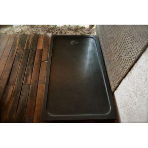 LivingRoc Receveur de douche 160x90 en granit noir véritable QUASAR SHADOW - Publicité