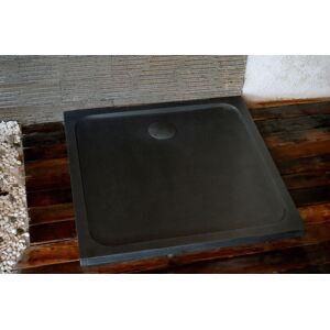 LivingRoc Bac de douche en pierre 100x100 granit noir SQUARIUM SHADOW - Publicité