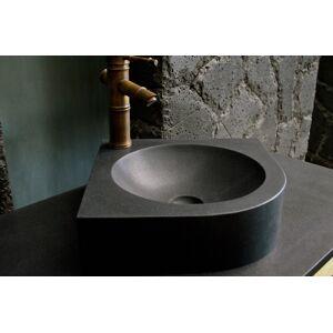 LivingRoc Lave mains d'angle granit noir 34x34 SAMOA SHADOW - Publicité