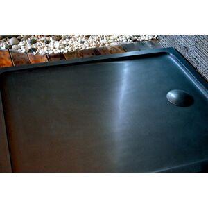 LivingRoc Receveur de douche 120X80 à l'italienne véritable Granit Noir PALAOS SHADOW - Publicité
