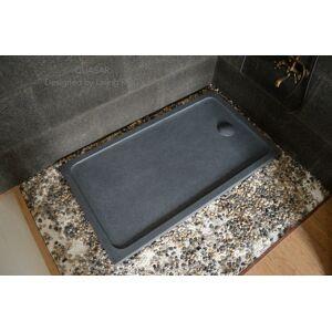 LivingRoc Receveur de douche 160x90 bac en granit gris véritable QUASAR - Publicité