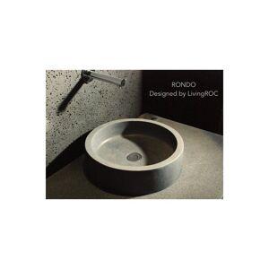 LivingRoc Vasque en pierre naturelle Ronde basalte gris RONDO - Publicité