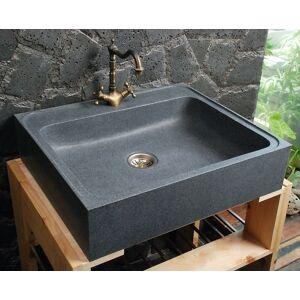 LivingRoc Evier en Pierre Granit véritable spécial cuisine 70x60 LAGOS - Publicité