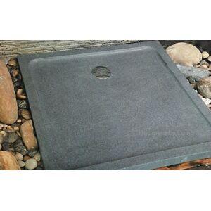 LivingRoc Receveur de douche 90x90 en granit véritable extra plat SERENA - Publicité