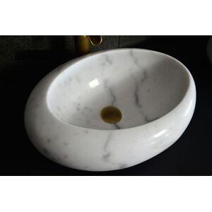 LivingRoc Vasque marbre Blanc oblongue salle de bain COCOON WHITE - Publicité