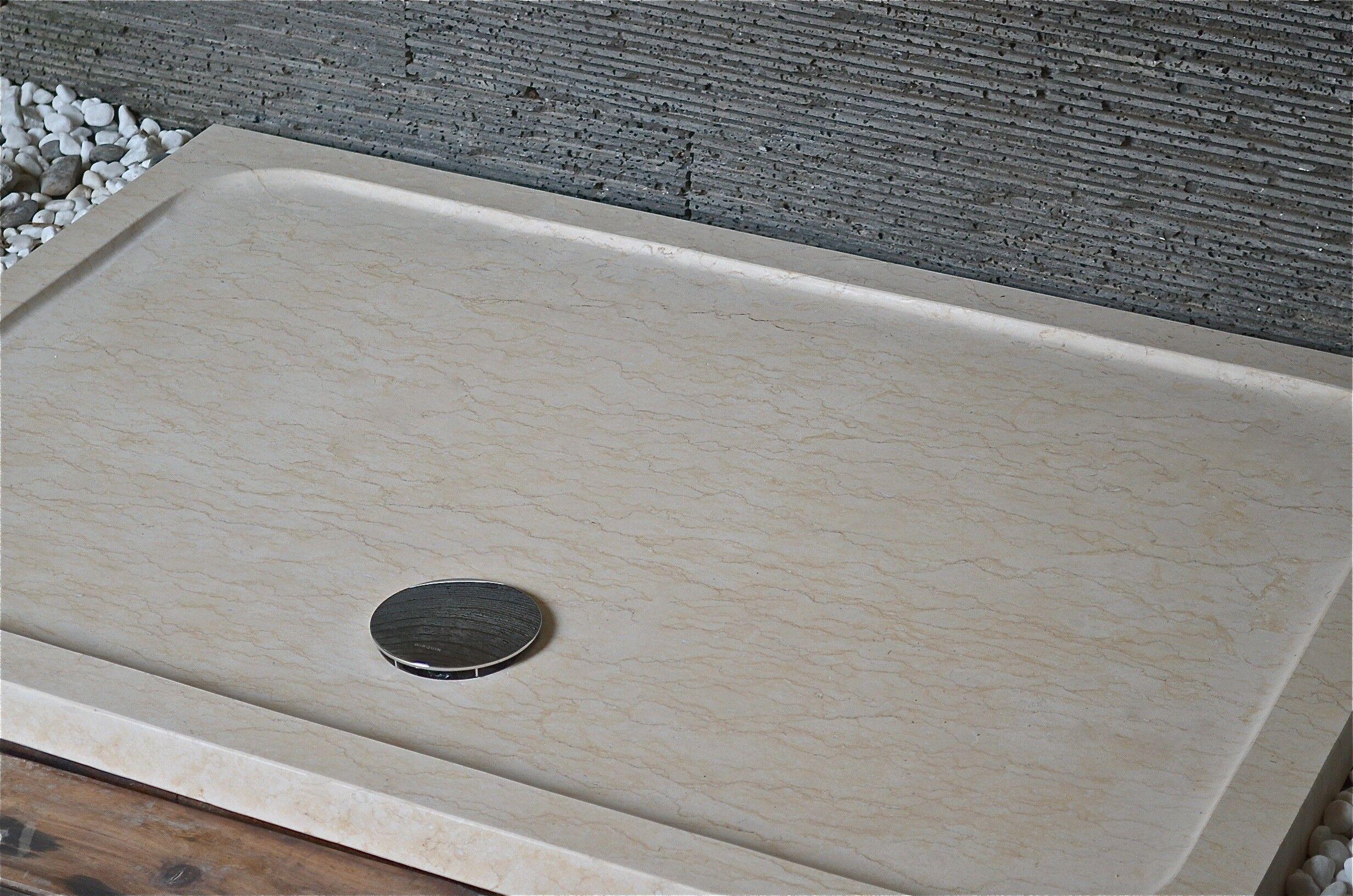 LivingRoc Receveur de douche en marbre d'Égypte 140x90 SPACIUM SUNNY