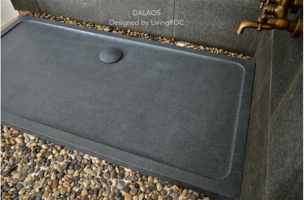 LivingRoc Receveur de douche à l'italienne taillé dans le granit 180x90 DALAOS