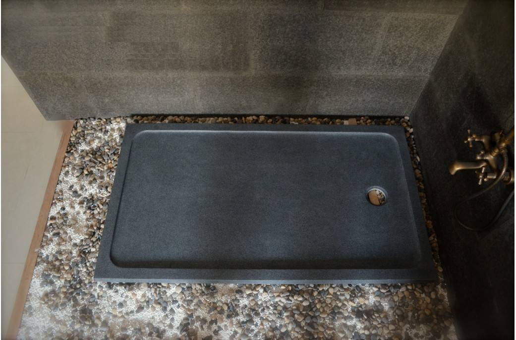 LivingRoc Receveur de douche pierre 140x90 à l'italienne granit SPACIUM