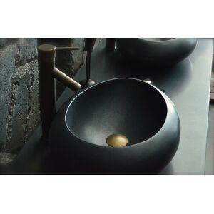 LivingRoc Vasque à poser en pierre naturelle granit noir véritable luxe COCOON SHADOW - Publicité