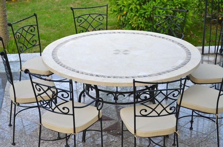 LivingRoc Table de jardin mosaïq...
