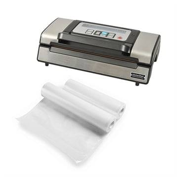 Kitchen Chef Professional Lot appareil à emballer sous vide pro VS5160 et 2 rouleaux de sachets à découper Kitchen Chef Professional