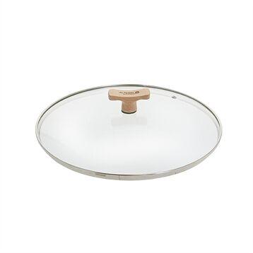 De Buyer Couvercle verre 20 cm bouton bois de hêtre De Buyer