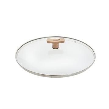 De Buyer Couvercle verre 24 cm bouton bois de hêtre De Buyer