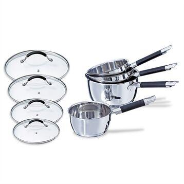 Mathon Lot 4 casseroles + 4 couvercles Rapid Cook 14 à 20 cm Mathon