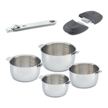 Beka Lot 4 casseroles Select avec une poignée et 2 anses gris Beka