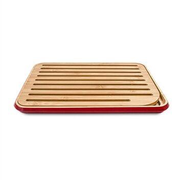 Planche à pain bordeaux en bambou 35 cm Pebbly