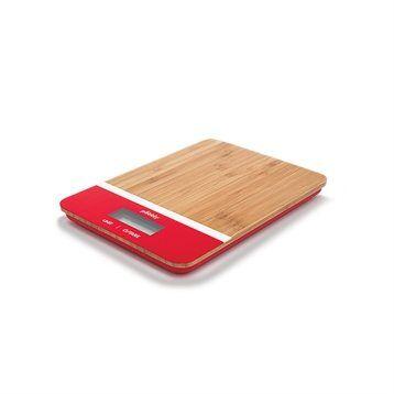 Pebbly Balance de cuisine bambou rouge rectangulaire Pebbly