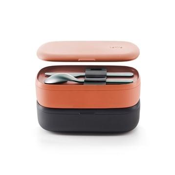 Lekue Lunch Box basics To Go corail 1 L Lekue