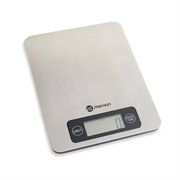 Mathon Balance de cuisine digitale en inox 5 kg Mathon