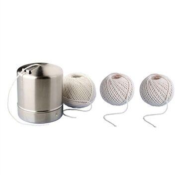 Lot bobines ficelles alimentaire avec boîte et recharge