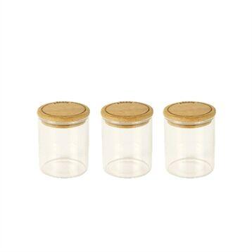 Pebbly Set de 3 boîtes à épices en verre Pebbly