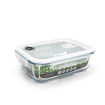 Boîte rectangulaire en verre 1,5 L Pebbly