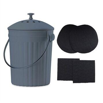 Lot Seau à compost et 2 filtres à charbon anti-odeurs