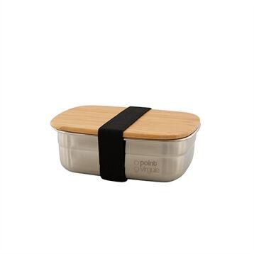 Point Virgule Lunch box inox et bambou 450ml Point Virgule