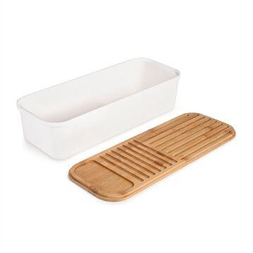 Boîte à pain couvercle bambou 39,5 x 15 cm
