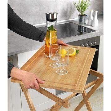 Maximex Table pliante avec plateau amovible Lugo en bambou Maximex