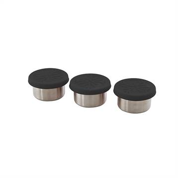 Point Virgule Set 3 boîtes de conservation en inox 60 ml et couvercles en silicone Point Virgule
