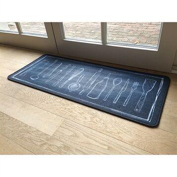 Tapis de cuisine motif ustensiles 120 cm