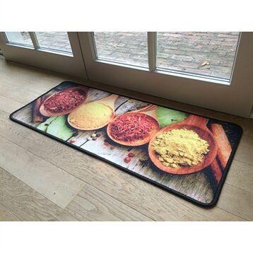 Tapis de cuisine motif épices 120 cm